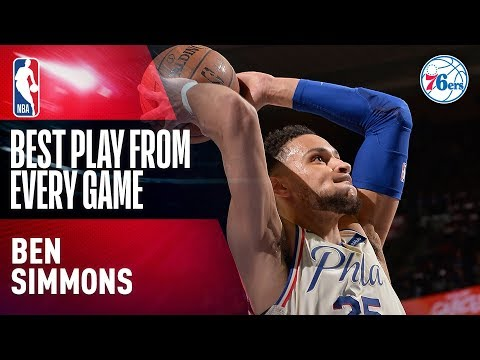 Ben Simmons' BEST PLAY from EVERY GAME   2017-2018 76ers