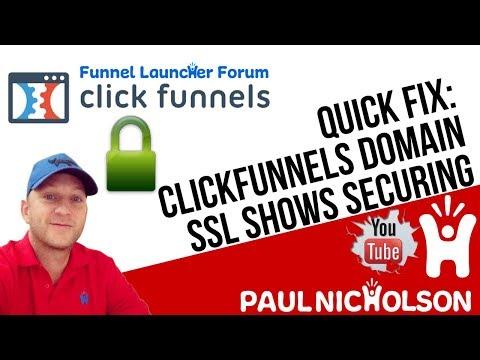Quick Fix: ClickFunnels SSL Showing Securing Not Secure - YouTube