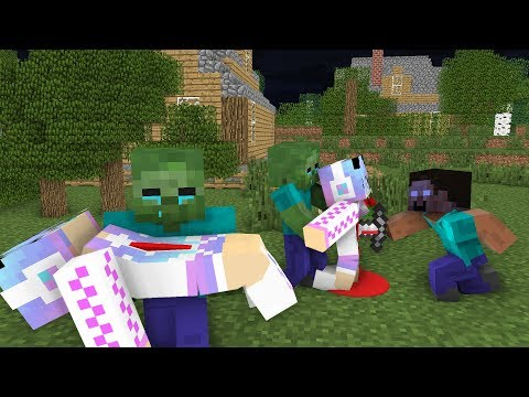 Download Monster School : RIP Cute Girl | Zombie Life 5 - Minecraft Animation HD Mp4 3GP Video and MP3