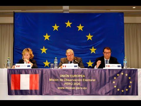 Panamericana Tv. La MOE UE presenta su declaración preliminar