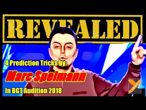 Revealed: Marc Spelmann (Prediction Tricks) in BGT Audition 2018 (видео)