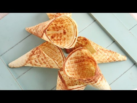 How To Make Waffle Cones   Episode 1065