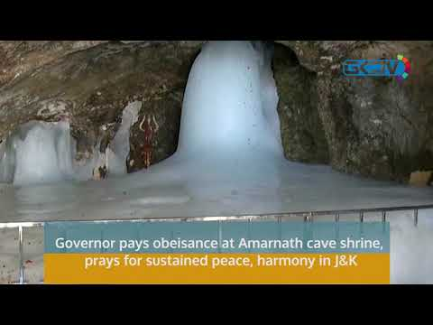 Governor pays obeisance at Amarnath cave shrine, prays for sustained peace, harmony in J&K