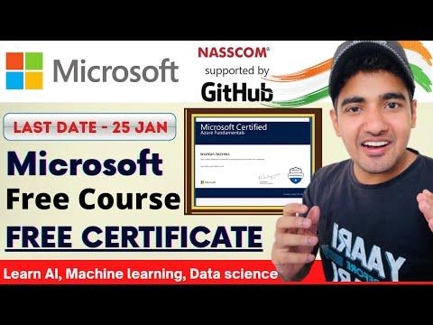 Microsoft Free Course Machine Learning   Free Microsoft Certificate ...