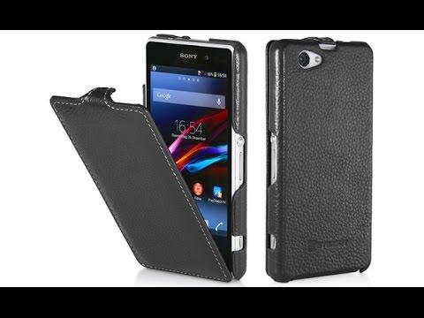 Handyhülle für Sony Xperia Z1 Compact aus echtem Leder von StilGut