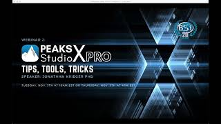 PEAKS Xpro Tips and Tricks