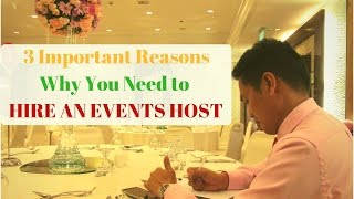 3 Reasons Why You Need to Hire An Events Host