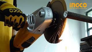 Угловая шлифовальная машина INGCO AG23508.2 от компании SKS-SHOP - интернет магазин ремонта и строительства в Республике Крым - видео 1