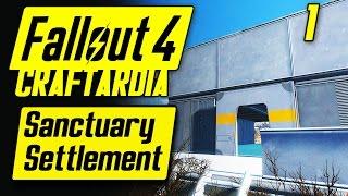 Fallout 4 Sanctuary Settlement #1 - Base Building Timelapse - Fallout 4 Settlement Building [PC]