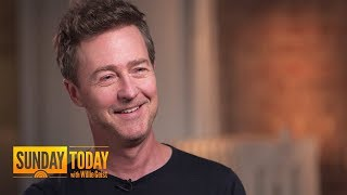 Edward Norton On 'Motherless Brooklyn,' Iconic Roles, On-Set Jitters | Sunday TODAY