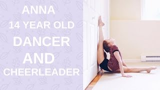 Anna amazing dancer and cheerleader (extremely flexible)