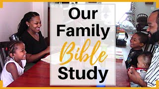 Family Bible Study Lesson | Love | How We Study the Bible | Christian Family Vloggers