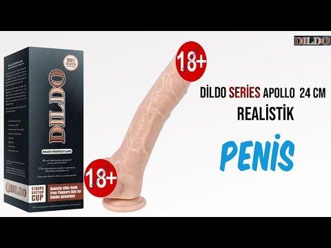 Dildo Series Apollo 24 Cm Belden Bağlamalı Penis