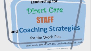 Leadership as a Supervisor to Frontline Staff