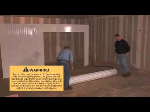 Light Duty Roll Up Sheet Door Installation