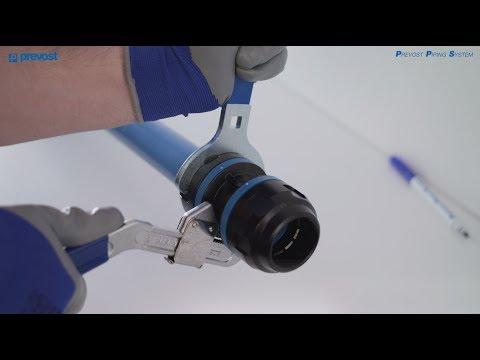 Come montare il raccordo sul tubo? - Rete d'aria compressa in alluminio - PREVOST PIPING SYSTEM - IT