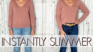 How to Look Slimmer INSTANTLY | 5 TRICKS TO LOOK 5 POUNDS SLIMMER | DRESS SKINNY