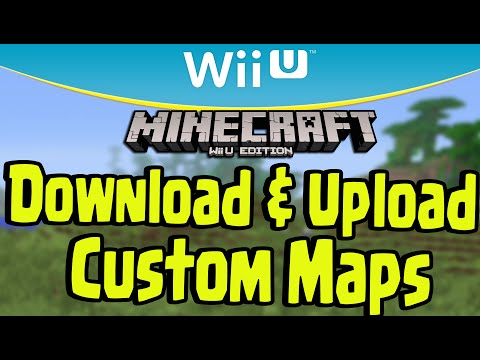 Minecraft Wii U DOWNLOAD And UPLOAD CUSTOM MAPS WORLD SHARE - Maps fur minecraft wii u