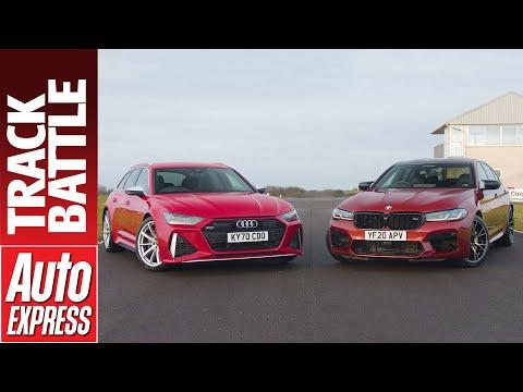 Audi RS 6 Avant vs BMW M5 Competition: super exec Track Battle