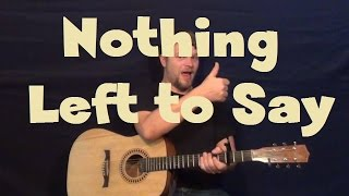 Nothing Left To Say (Imagine Dragons) Easy Strum Guitar Lesson How to Play