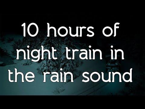 🎧 ☁ Night train in the rain sound on black screen dark screen high quality white noise ASMR
