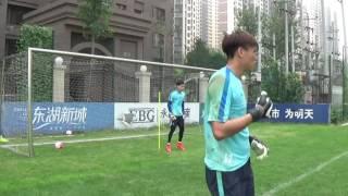 Ball fangen und hoher Sprungball rechte Seite