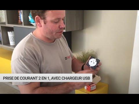 Mathieu, électricien partenaire Legrand, installe la prise Céliane Surface avec chargeur USB Type-C