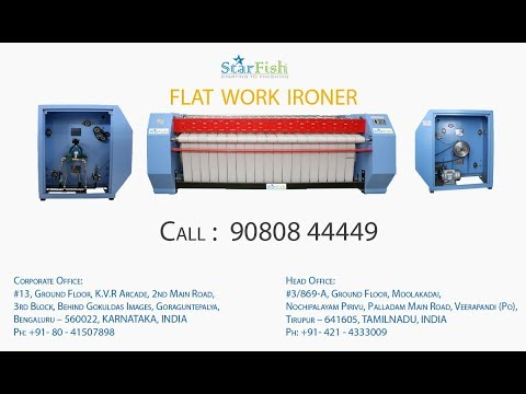 Rear Return Flat Work Ironer