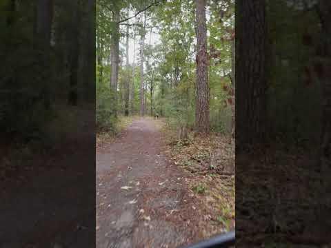The trail around the lake is navigable with hybrid bikes or mountain bikes
