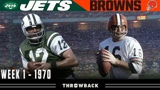 The First EVER Monday Night Football Game! (Jets vs. Browns 1970, Week 1)