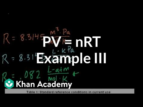 Ideal gas equation example 3 (video)   Khan Academy