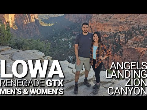 Best Shoes for Angels Landing Hike:  Lowa Renegade GTX Hiking Boots Review (Men's & Women's)