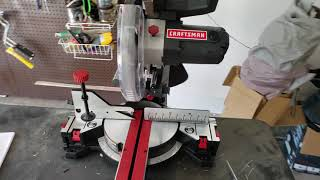 miter saw review unboxing craftsman 10 unlock