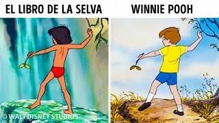14 Veces en la que Disney utilizó las mismas ilustraciones en diferentes dibujos animados