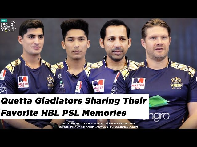 Quetta Gladiators sharing their Favorite HBL PSL Memories | HBL PSL 2020