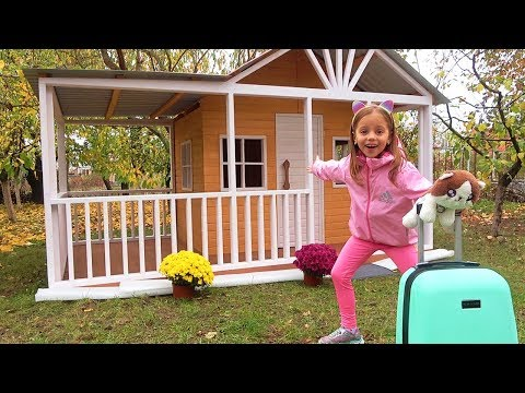 Новый ДОМ игровой для Насти с мебелью Опять ПЕРЕЕЗД DIY Playhouse for children