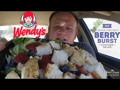 Wendy's NEW! ☆BERRY BURST CHICKEN SALAD☆ Food Review!!!