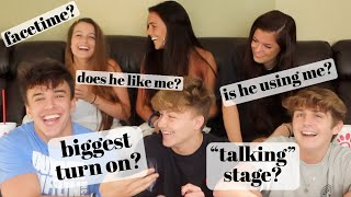 BOYS ANSWERING GIRLS QUESTIONS ABOUT RELATIONSHIPS