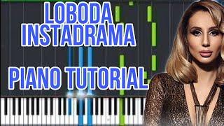 LOBODA INSTADRAMA Piano Tutorial + Ноты By Jordan Micolas #LOBODA #INSTADRAMA #PIANO