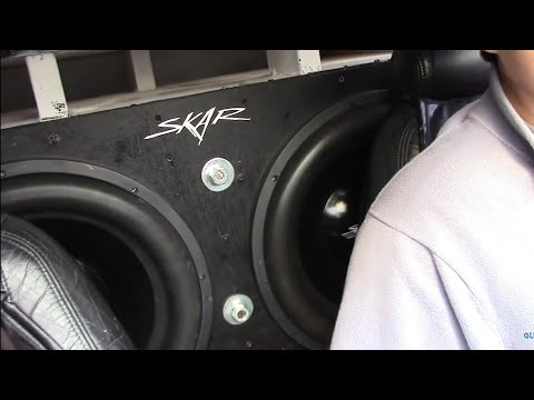 COPS AND BASS DEMO | 2 Skar ZvX 18s on 2 SoundQubed 2250s