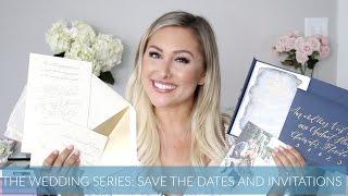 SAVE THE DATES & WEDDING INVITATIONS // Wedding Series