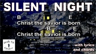 Silent Night - Christmas Song with Lyrics and Chords