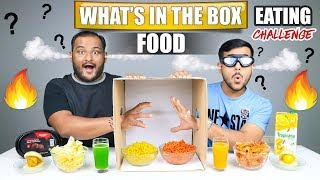 WHAT'S IN THE BOX FOOD EATING CHALLENGE | Spicy Noodles Eating Competition | Food Challenge