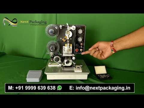 Semi Auto Batch Coding Machine