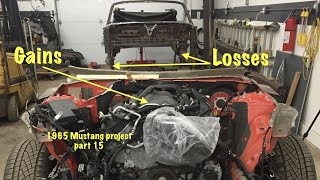 Removing The Rusty Frame Rails From The 65 And Dropping The Engine In The 2015 For The Mustang Build