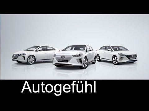Hyundai Ioniq Electric Hybrid & Plug-In Interior/Exterior Preview 2017 – Autogefuhl