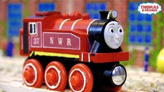 NWR Red Rosie   Custom Thomas Wooden Railway Model #5 by DomelessEngine
