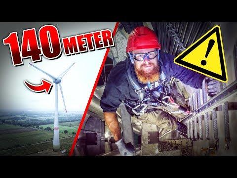 Auf 140 METER Windrad geklettert - ENERCON   Fritz Meinecke