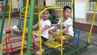 Bé Đi Chơi Xích Đu Cầu Tụt Đu Quay | Nhạc Thiếu Nhi Hay Cho Bé | Outdoor Playground for Kids