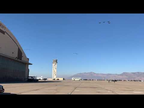 35 F-35's from the 388th FW do a show of force over Hill AFB, UT